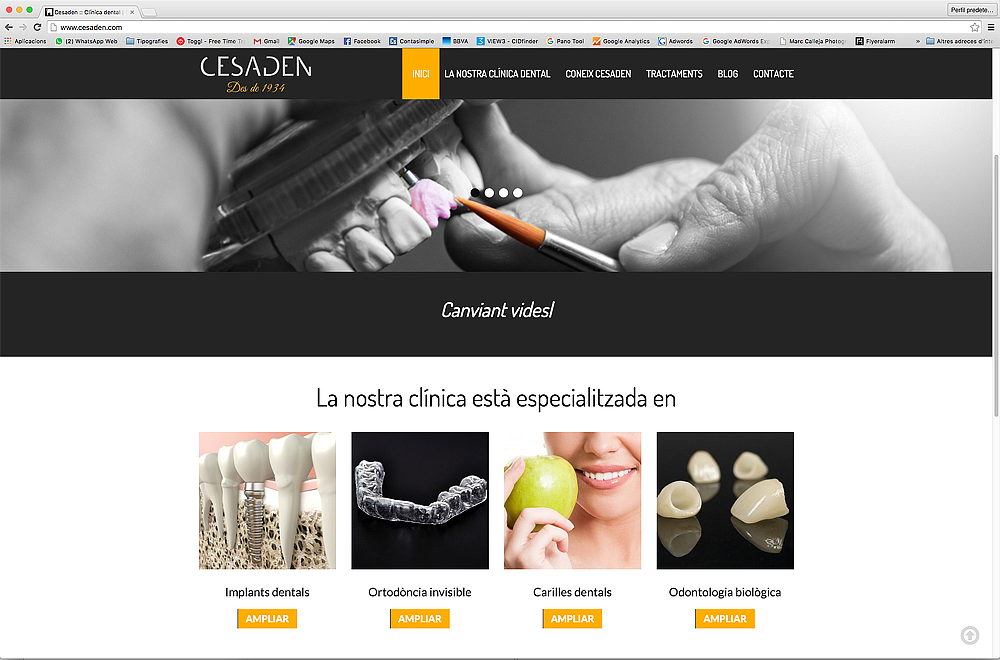 Web Clínica Dental Cesaden